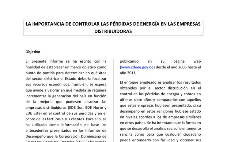 01 - La importancia de controlar las perdidasde energia en las empresas distribuidoras