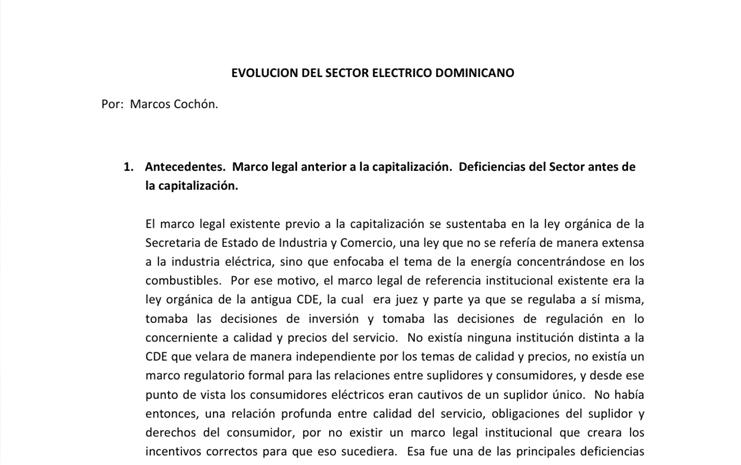 03 - Evolución del Sistema Eléctrico Dominicano - Marcos Cochón
