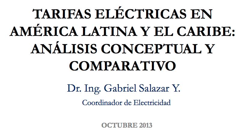 Gabriel Salazar Yépez, Coordinador Electricidad, Organización  Latinoamericana de Energía (OLADE)