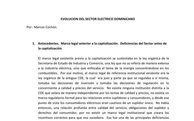 04 - Impacto del Sector Generación Eléctrica en la Economía Dominicana.