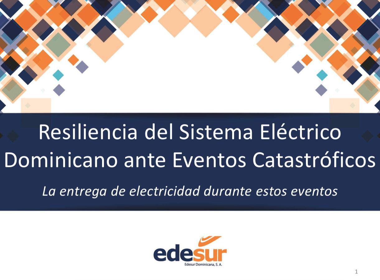 Resiliencia Sistema Eléctrico