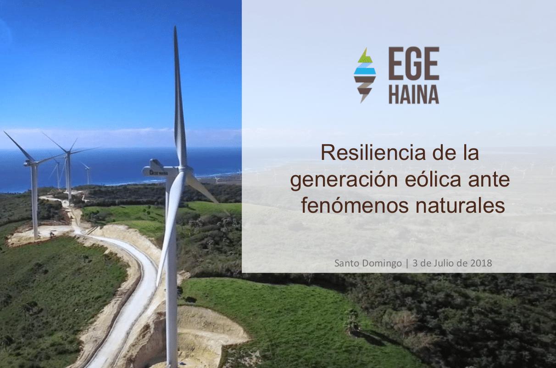 Resiliencia de la generación eólica ante fenómenos naturales