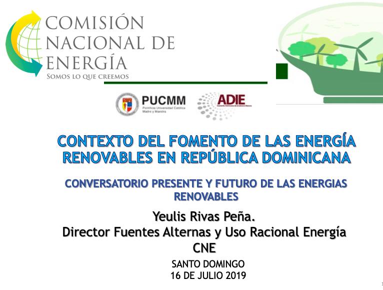 Contexto del fomento de las energías renovables en Rep. Dom. - Yeulis Rivas